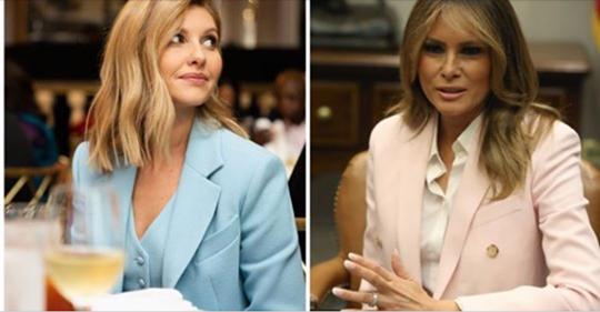 Елена Зеленская удивила даже Меланию Трамп: две первые леди посоревновались в чувстве стиля